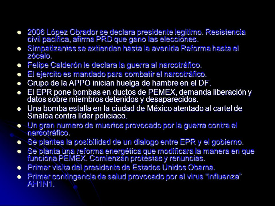 2006 López Obrador se declara presidente legitimo