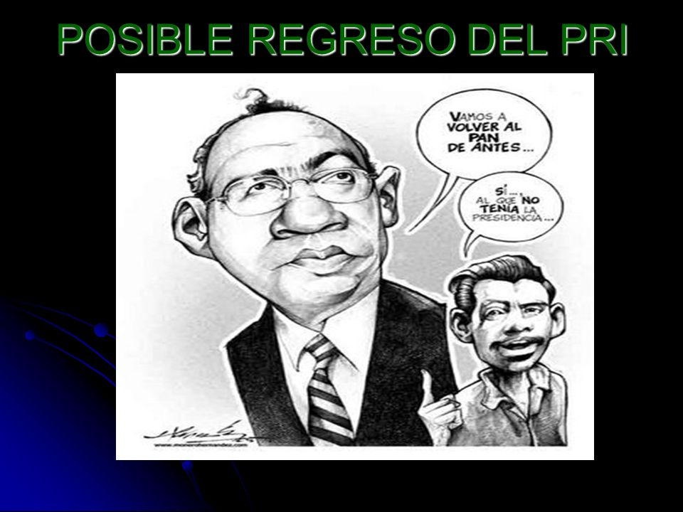 POSIBLE REGRESO DEL PRI