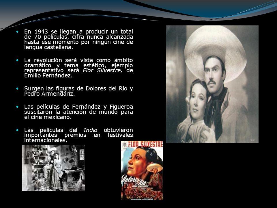 En 1943 se llegan a producir un total de 70 películas, cifra nunca alcanzada hasta ese momento por ningún cine de lengua castellana.