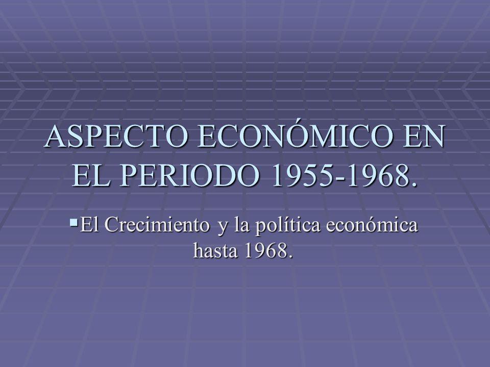 ASPECTO ECONÓMICO EN EL PERIODO 1955-1968.