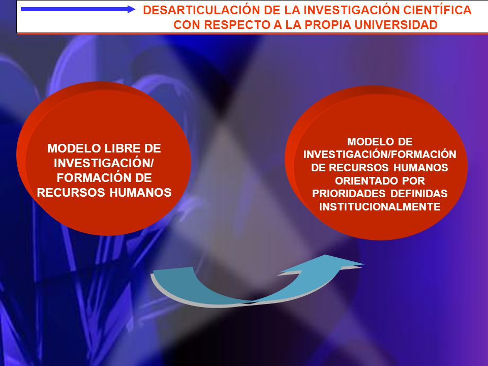 MODELO LIBRE DE INVESTIGACIÓN/ FORMACIÓN DE RECURSOS HUMANOS