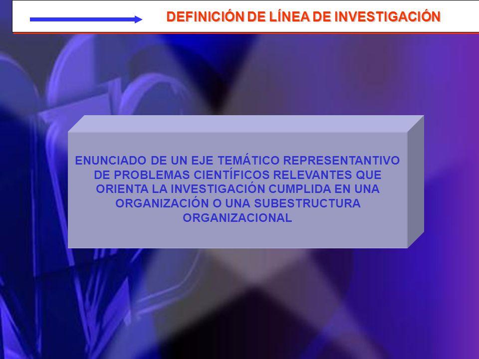 DEFINICIÓN DE LÍNEA DE INVESTIGACIÓN