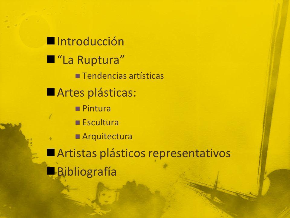 Artistas plásticos representativos Bibliografía