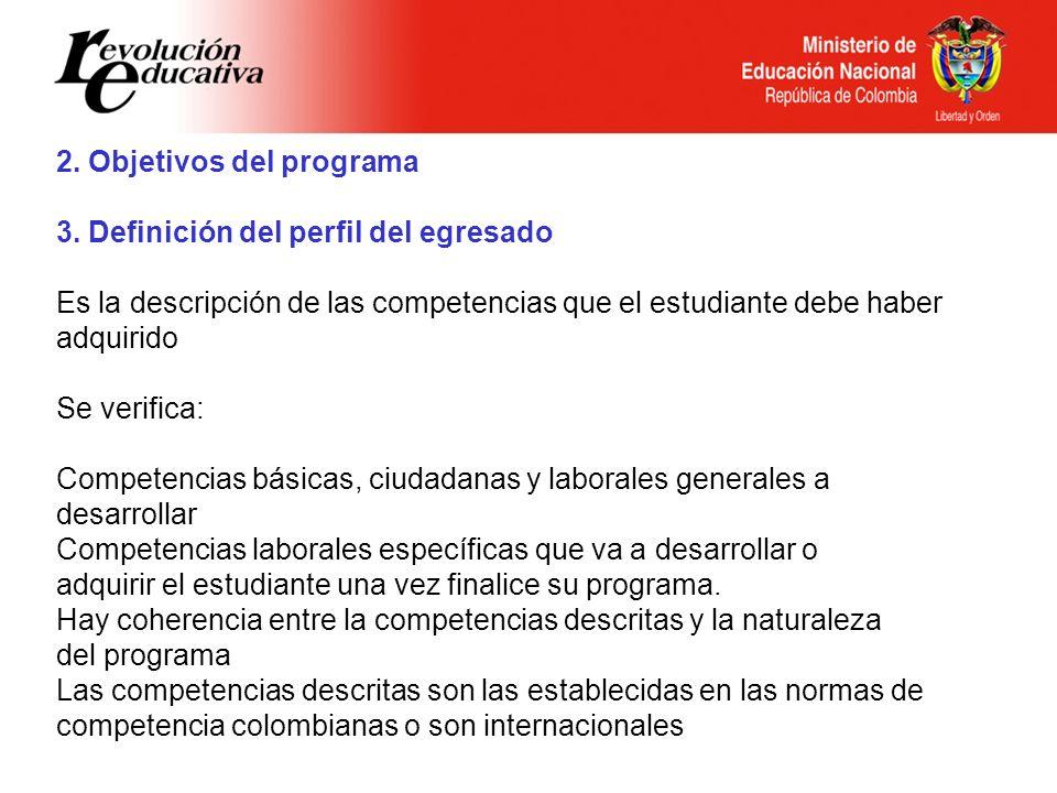 2. Objetivos del programa