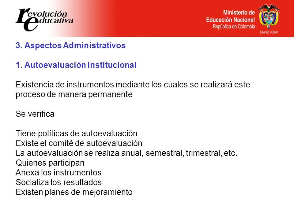 3. Aspectos Administrativos