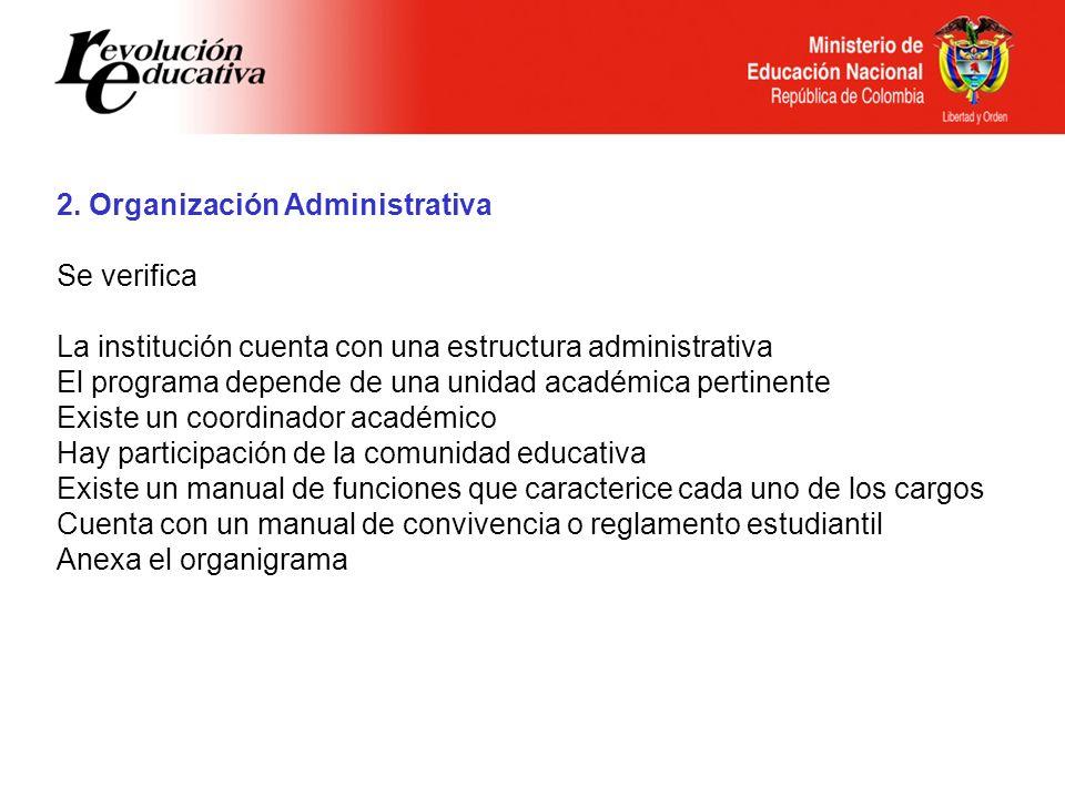 2. Organización Administrativa