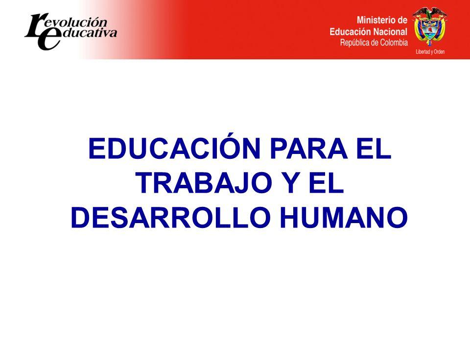 EDUCACIÓN PARA EL TRABAJO Y EL DESARROLLO HUMANO