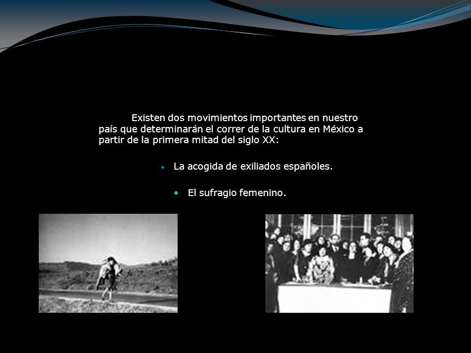 La acogida de exiliados españoles.