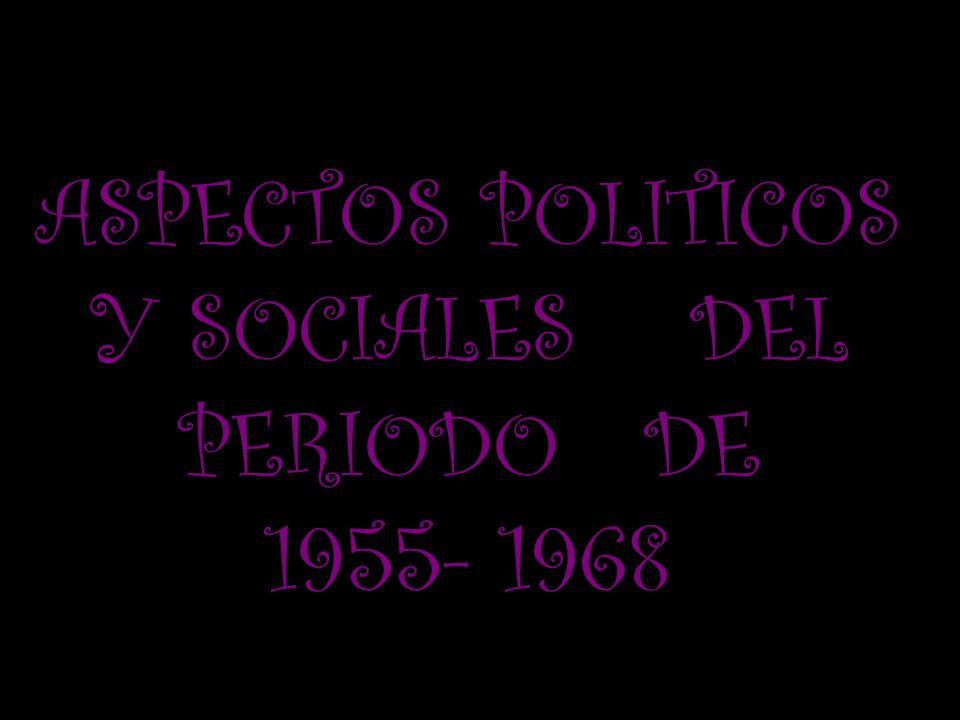 ASPECTOS POLITICOS Y SOCIALES DEL PERIODO DE