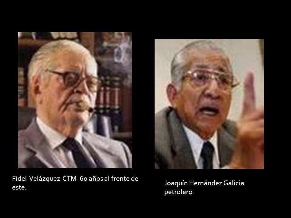 Fidel Velázquez CTM 60 años al frente de este.