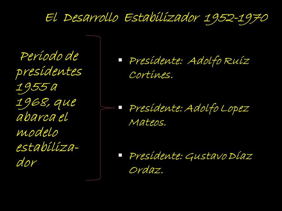 El Desarrollo Estabilizador 1952-1970