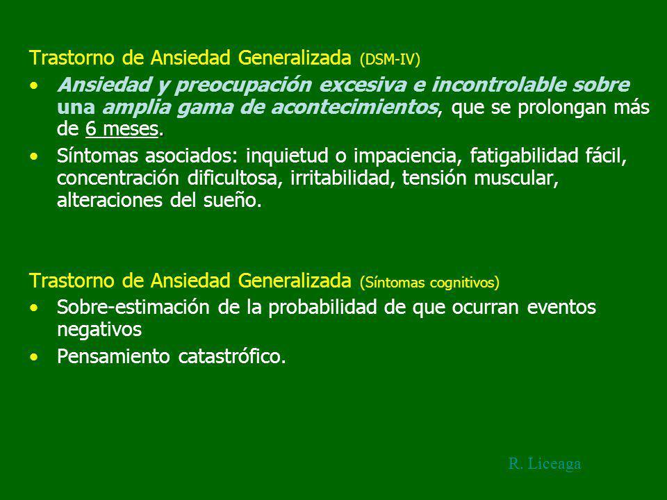 Trastorno de Ansiedad Generalizada (DSM-IV)