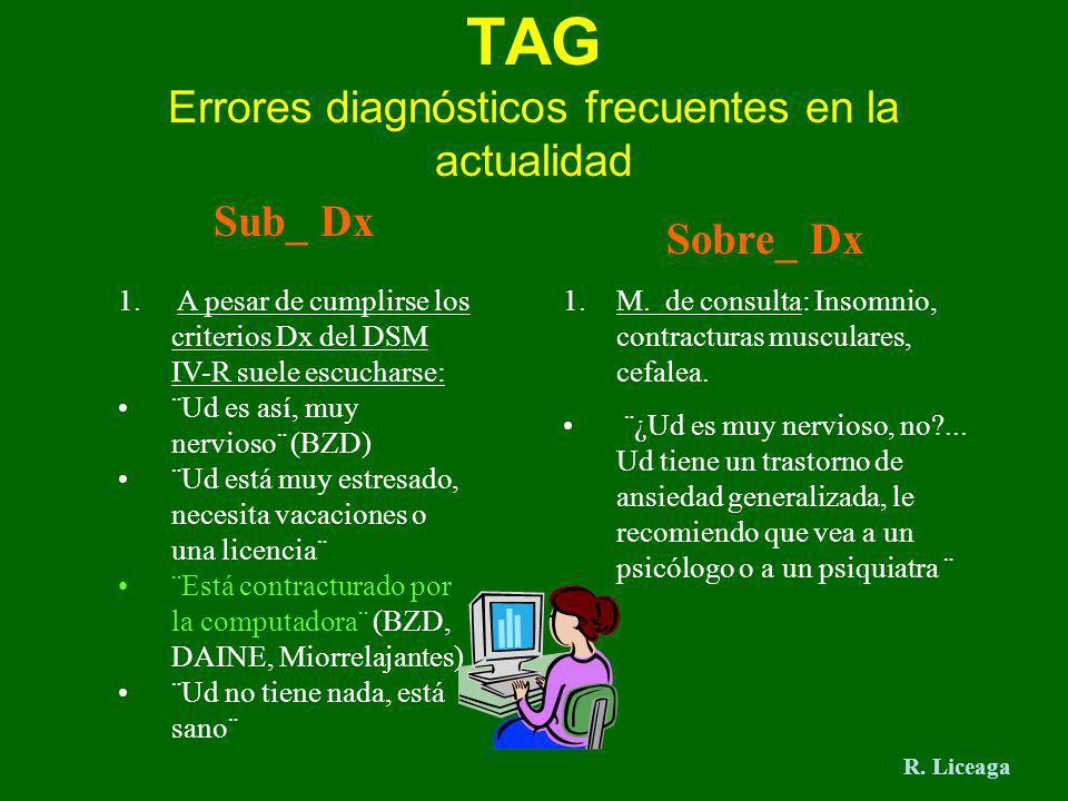 TAG Errores diagnósticos frecuentes en la actualidad