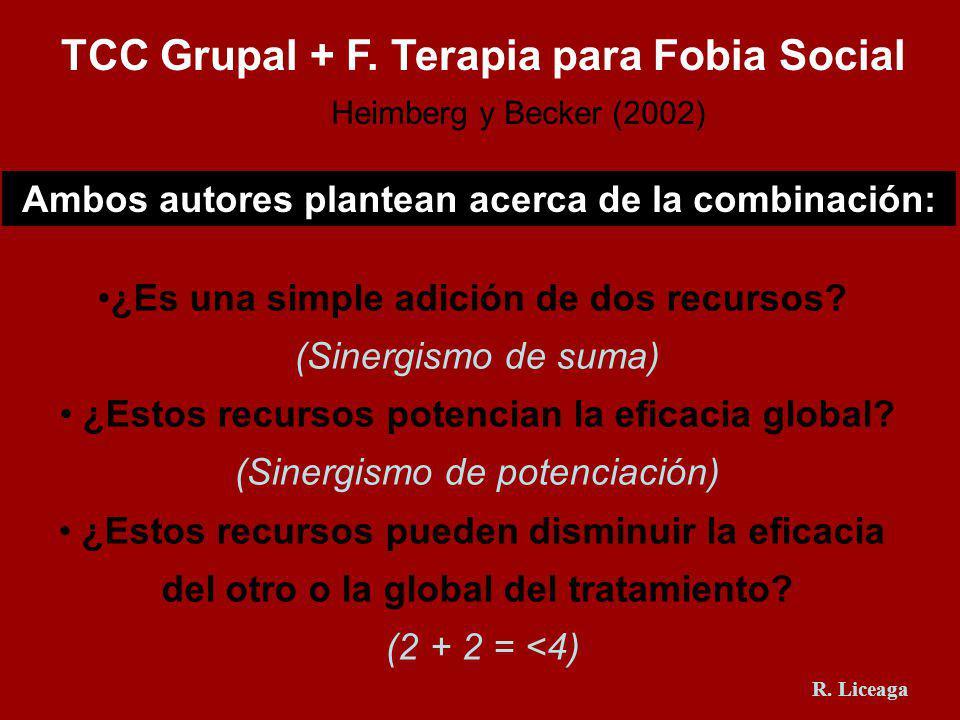 TCC Grupal + F. Terapia para Fobia Social