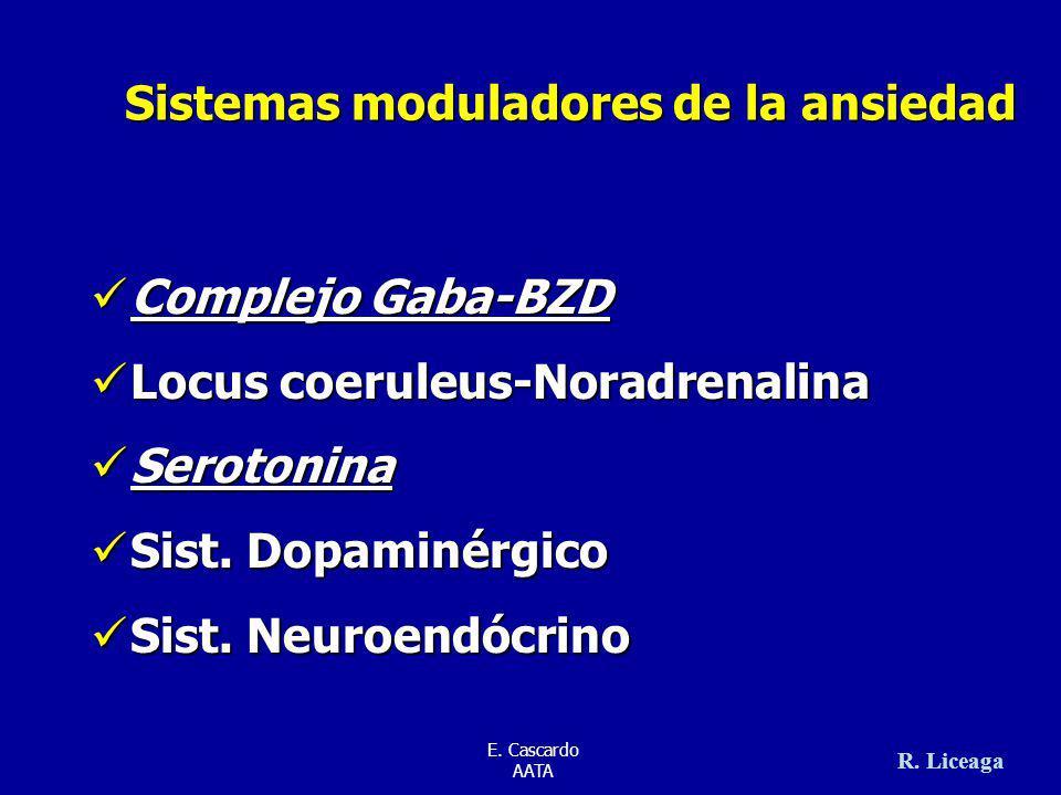 Sistemas moduladores de la ansiedad