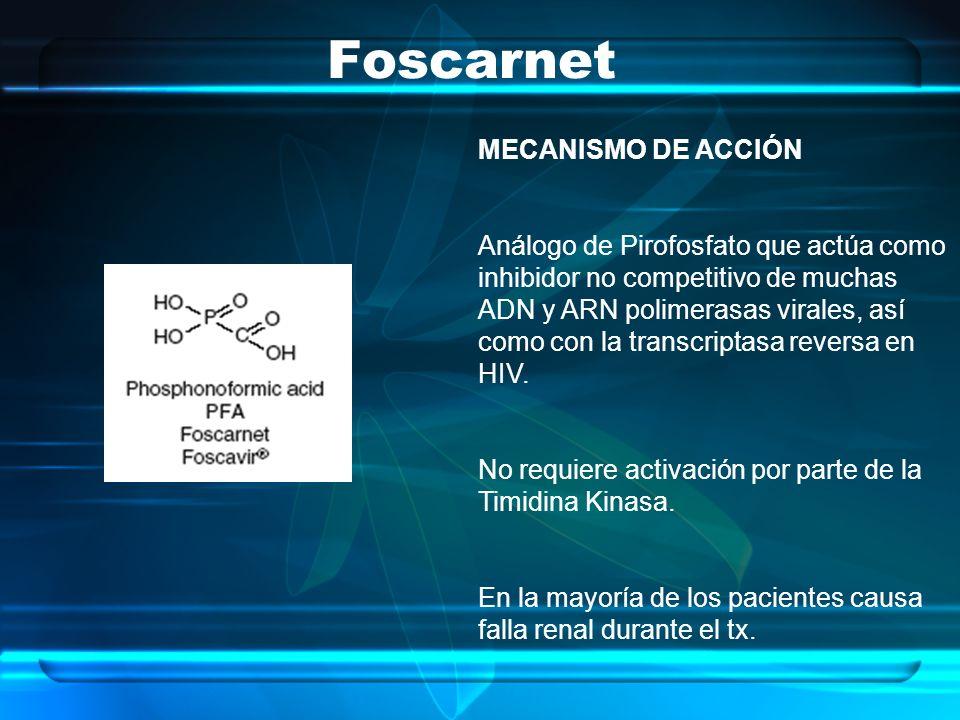 Foscarnet MECANISMO DE ACCIÓN