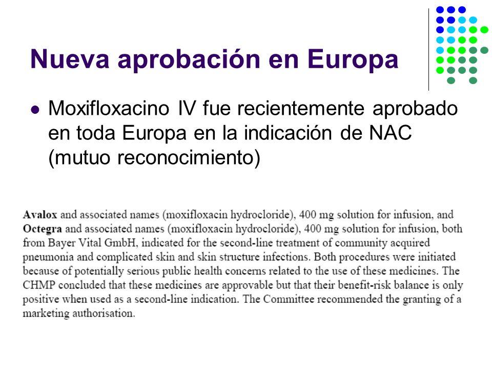 Nueva aprobación en Europa