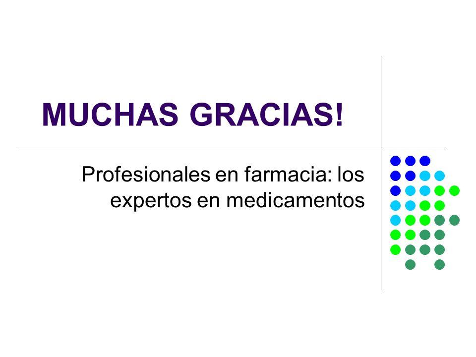 Profesionales en farmacia: los expertos en medicamentos