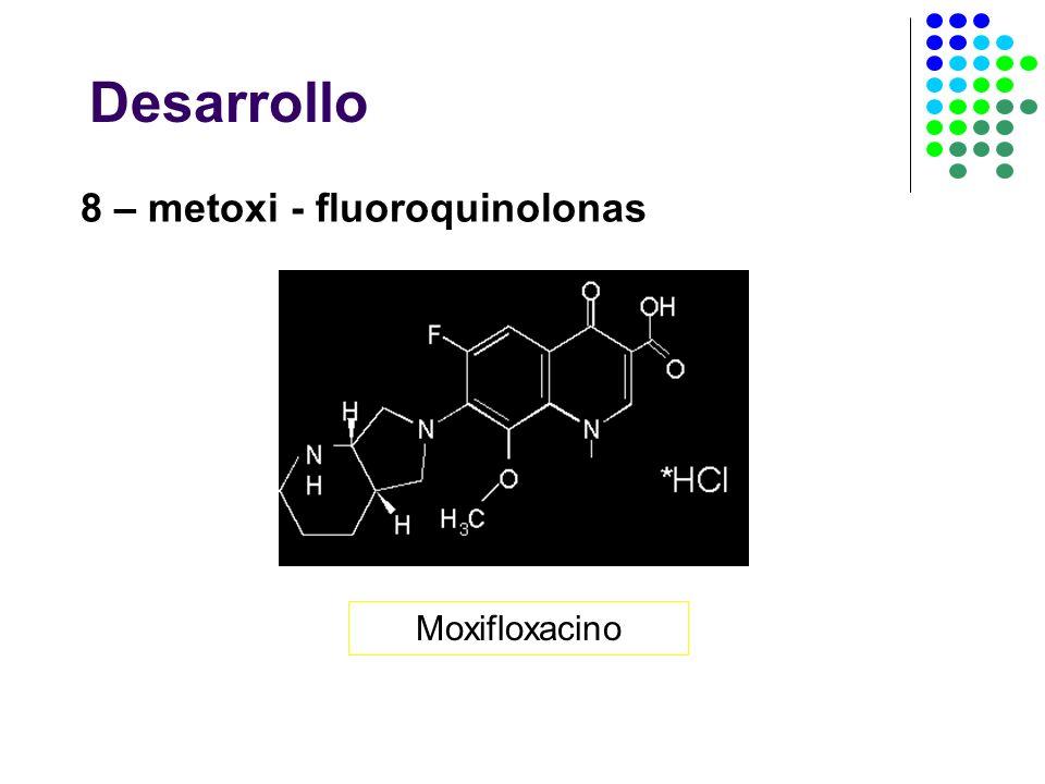 Desarrollo 8 – metoxi - fluoroquinolonas Moxifloxacino