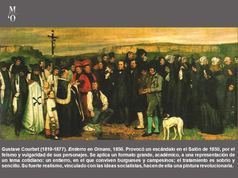 Gustave Courbet (1819-1877). Entierro en Ornans, 1850