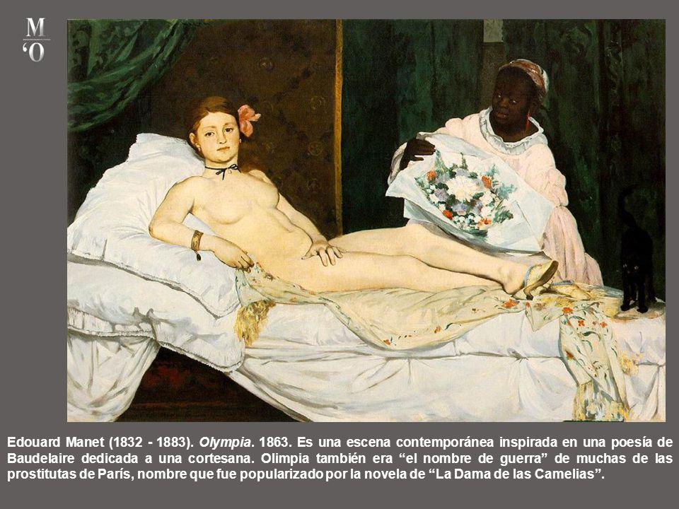 Edouard Manet (1832 - 1883). Olympia. 1863