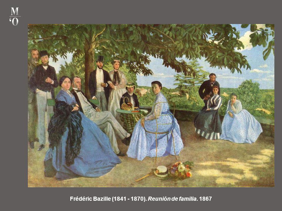 Frédéric Bazille (1841 - 1870). Reunión de familia. 1867