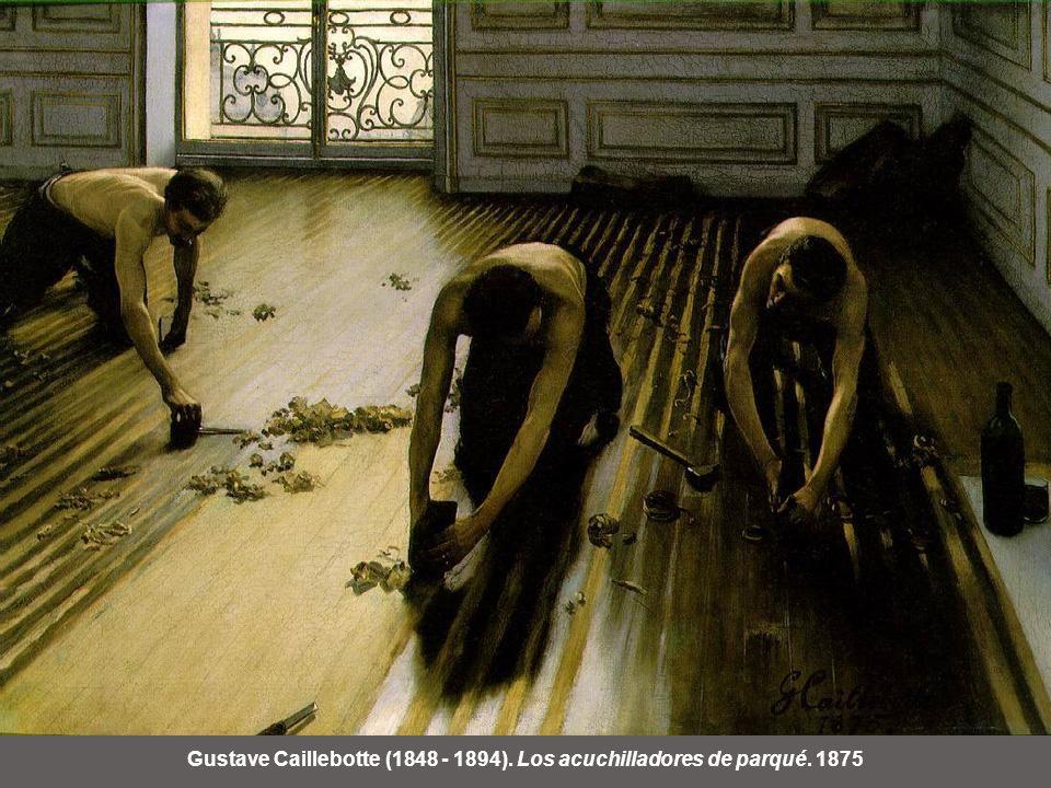 Gustave Caillebotte (1848 - 1894). Los acuchilladores de parqué. 1875