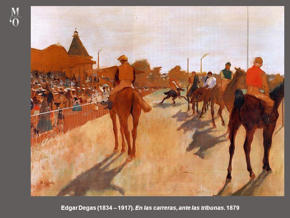 Edgar Degas (1834 – 1917). En las carreras, ante las tribunas. 1879