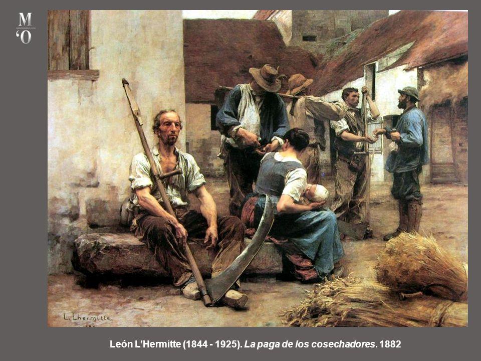 León L'Hermitte (1844 - 1925). La paga de los cosechadores. 1882
