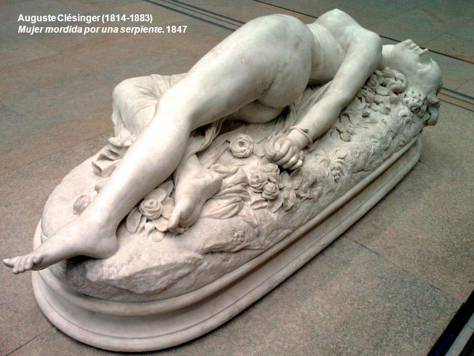 Auguste Clésinger (1814-1883) Mujer mordida por una serpiente. 1847