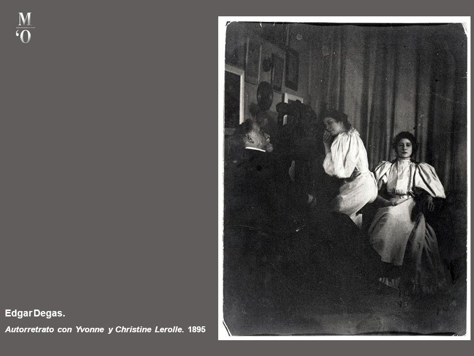 Edgar Degas. Autorretrato con Yvonne y Christine Lerolle. 1895