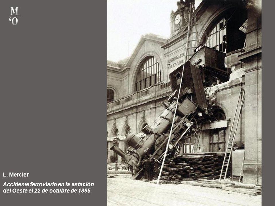 L. Mercier Accidente ferroviario en la estación del Oeste el 22 de octubre de 1895