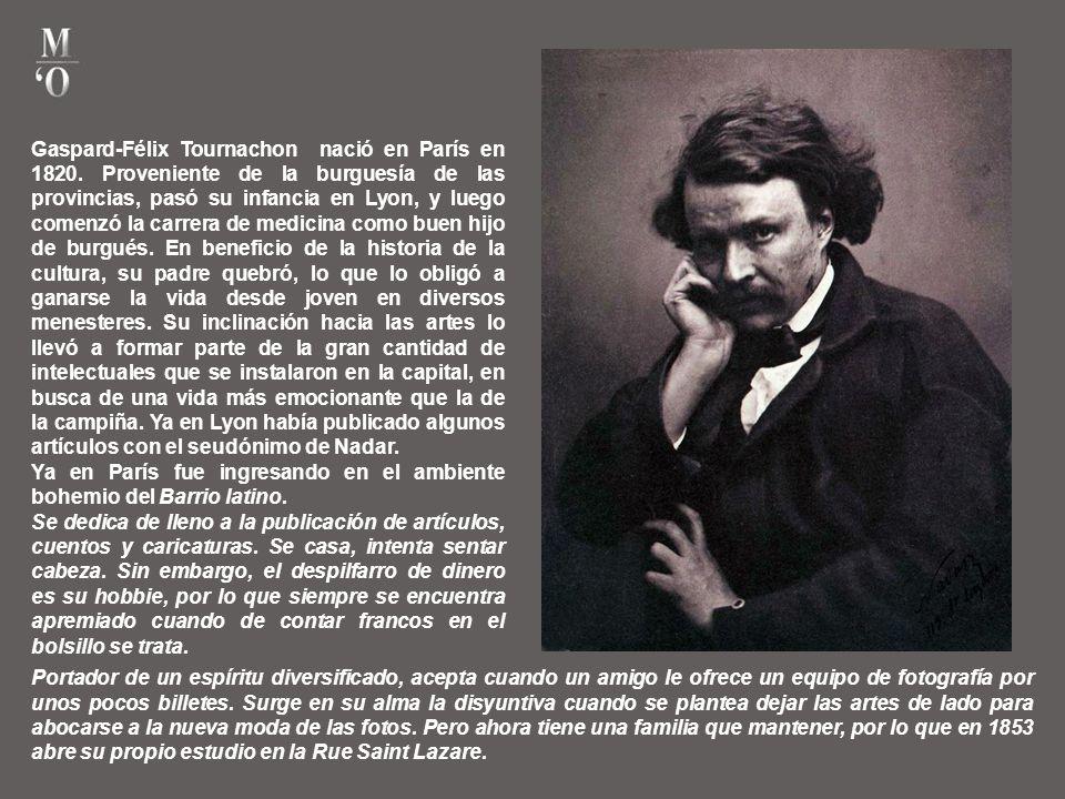 Gaspard-Félix Tournachon nació en París en 1820