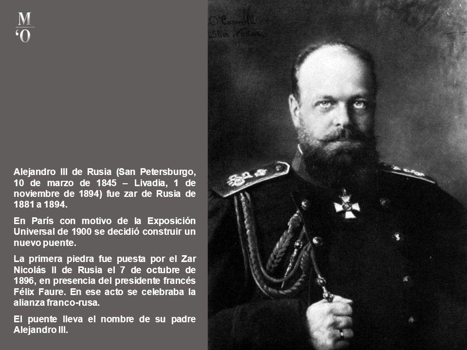 Alejandro III de Rusia (San Petersburgo, 10 de marzo de 1845 – Livadia, 1 de noviembre de 1894) fue zar de Rusia de 1881 a 1894.
