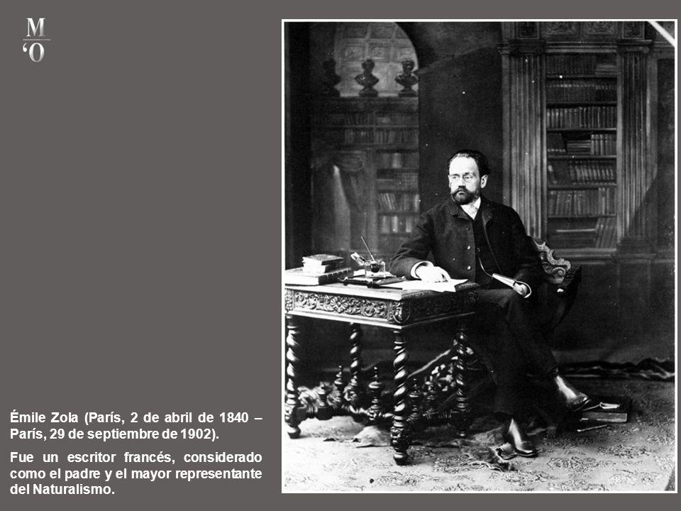 Émile Zola (París, 2 de abril de 1840 – París, 29 de septiembre de 1902).