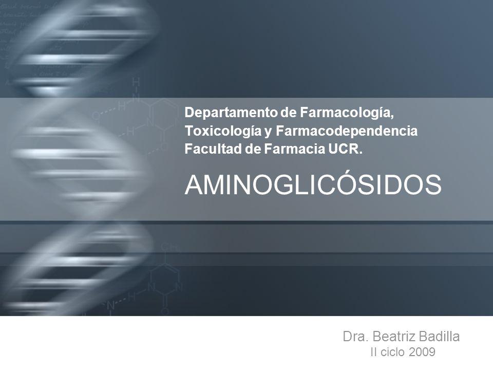 Departamento de Farmacología, Toxicología y Farmacodependencia Facultad de Farmacia UCR.