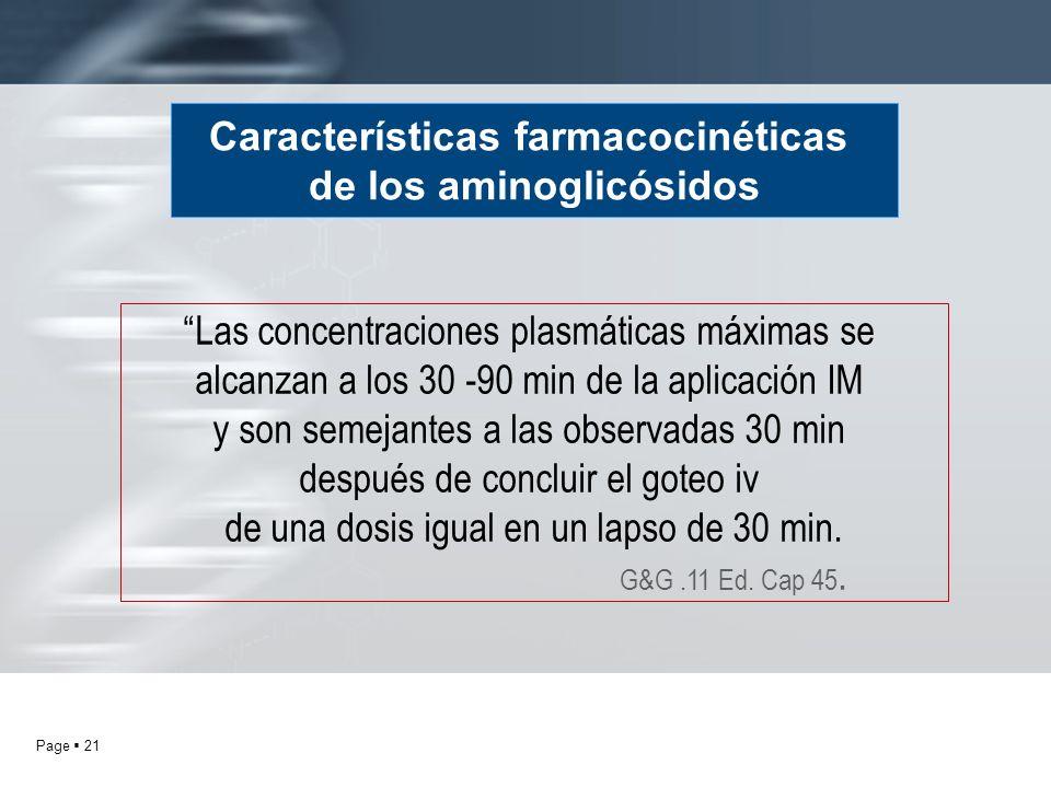 Características farmacocinéticas de los aminoglicósidos
