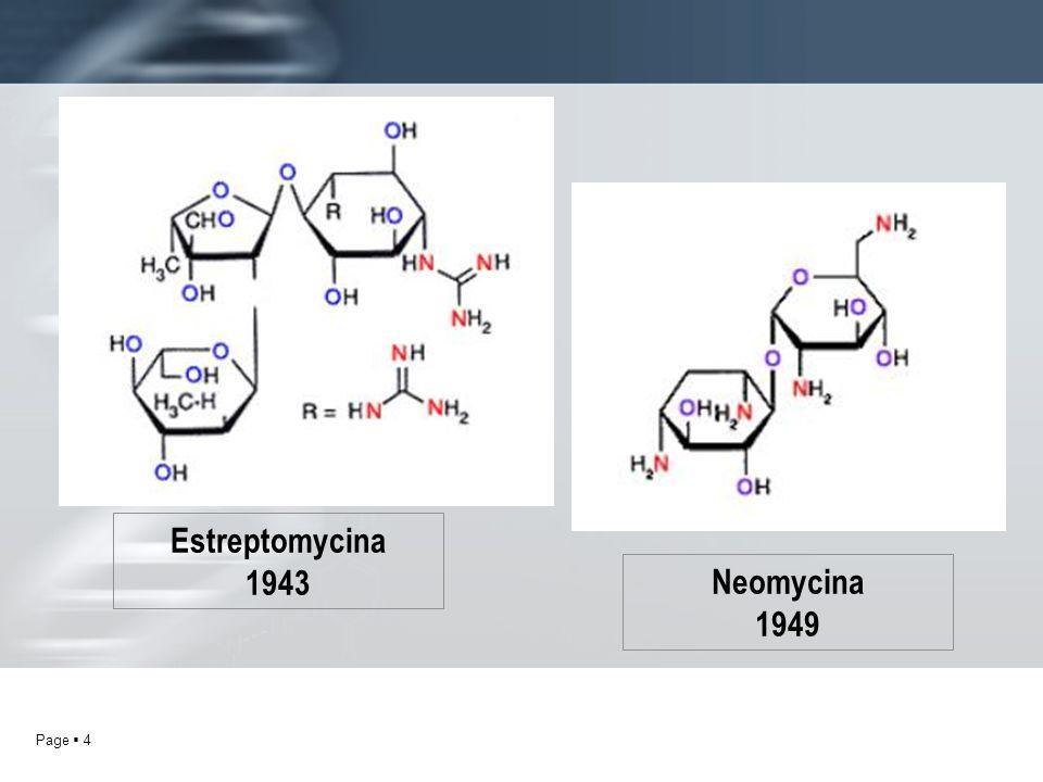 Estreptomycina 1943 Neomycina 1949