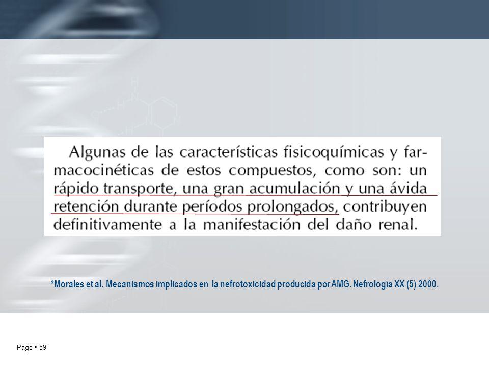*Morales et al.Mecanismos implicados en la nefrotoxicidad producida por AMG.
