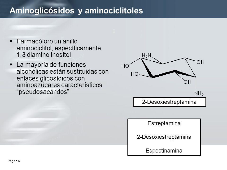 Aminoglicósidos y aminociclitoles