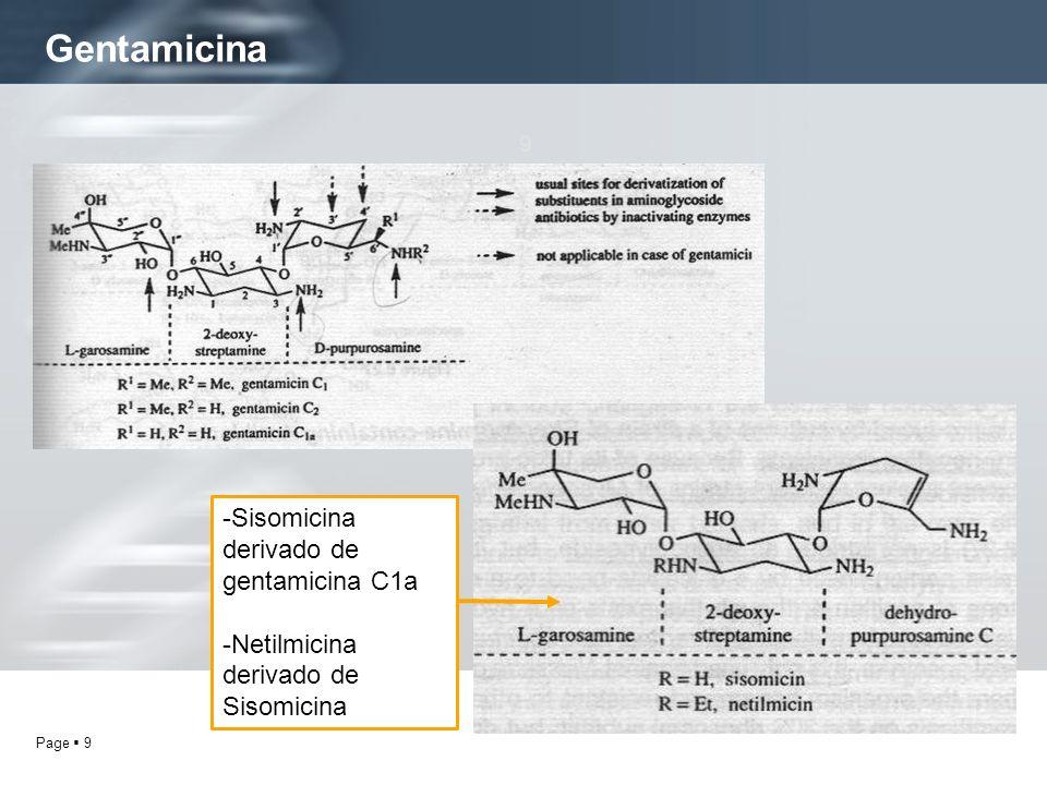 Gentamicina -Sisomicina derivado de gentamicina C1a