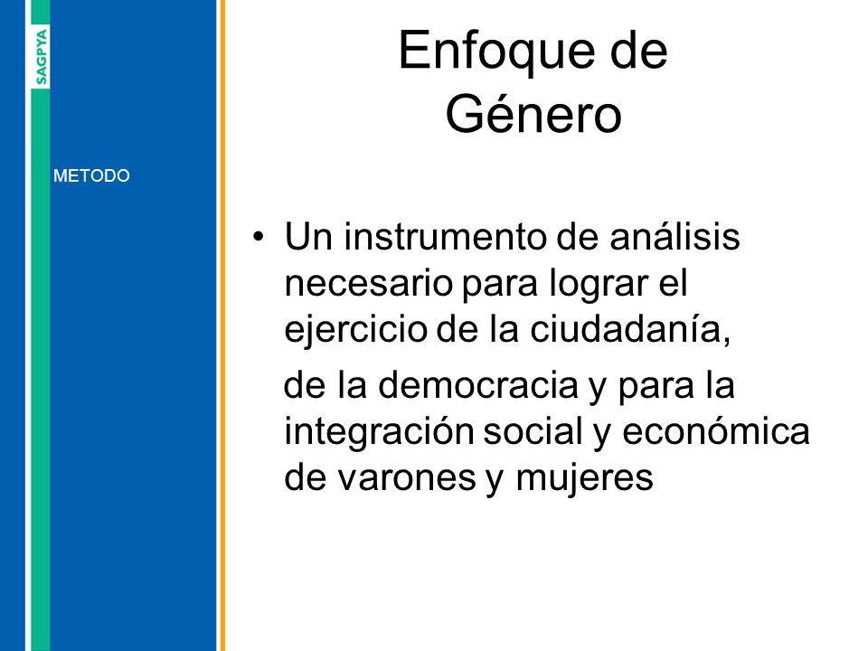 Enfoque de Género Un instrumento de análisis necesario para lograr el ejercicio de la ciudadanía,