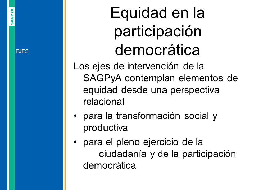 Equidad en la participación democrática