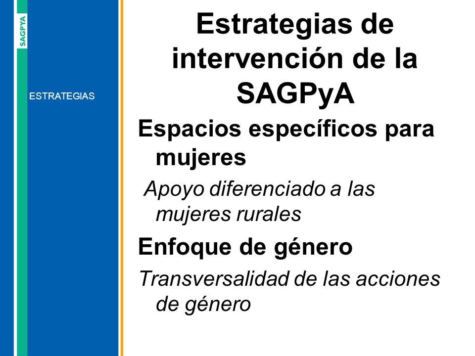 Estrategias de intervención de la SAGPyA