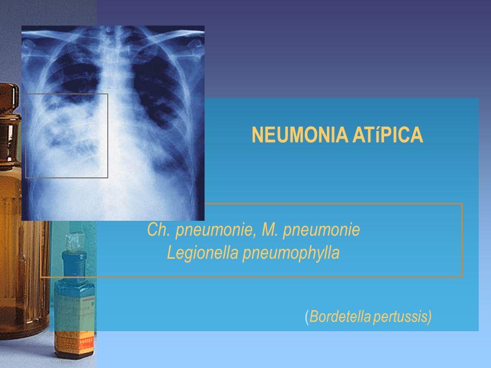 NEUMONIA ATíPICA Ch. pneumonie, M. pneumonie Legionella pneumophylla