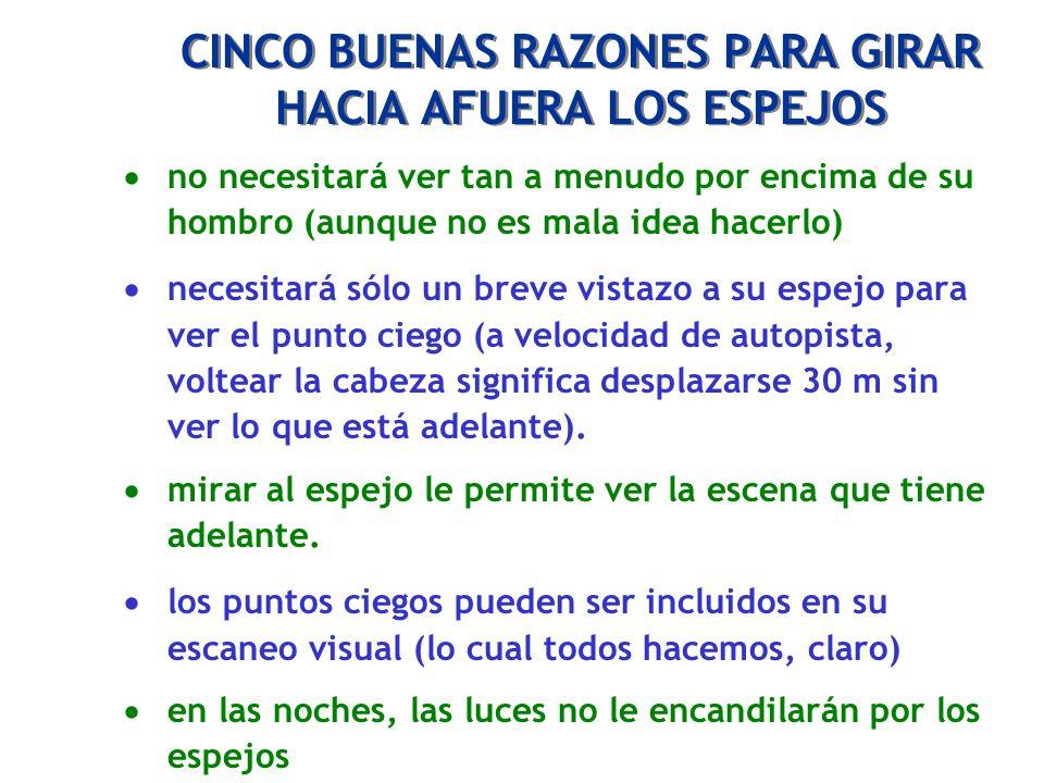 CINCO BUENAS RAZONES PARA GIRAR HACIA AFUERA LOS ESPEJOS