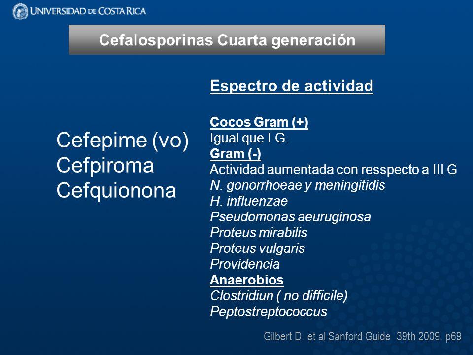 Cefalosporinas Cuarta generación