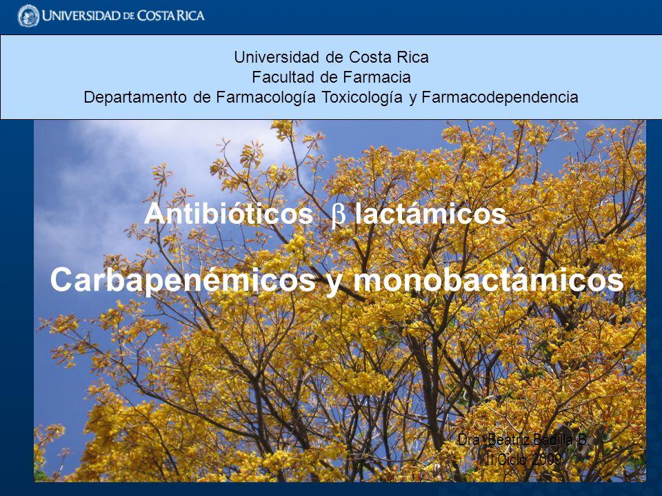 Antibióticos  lactámicos Carbapenémicos y monobactámicos