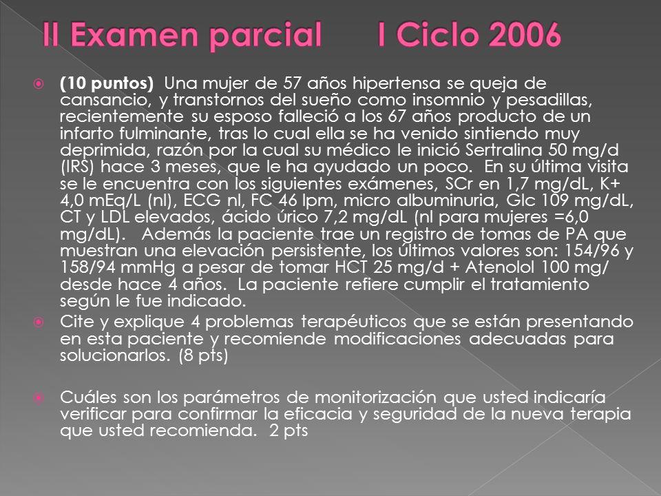 II Examen parcial I Ciclo 2006