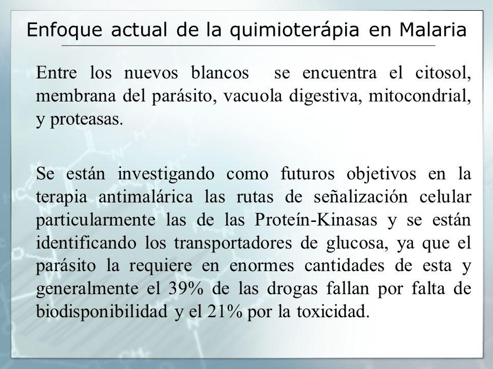 Enfoque actual de la quimioterápia en Malaria